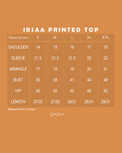 Load image into Gallery viewer, Irsaa Printed Top (Black)