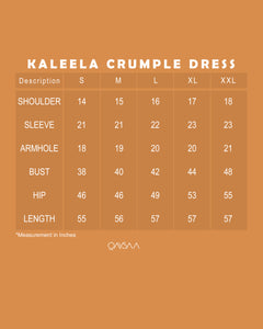 Kaleela Crumple Dress (Olive Green)