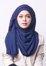 Load image into Gallery viewer, Hessa Wide Shawl (QH Gold Tag) - Navy Blue