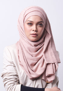 Hessa Wide Shawl (QH Gold Tag) - Blush Pink
