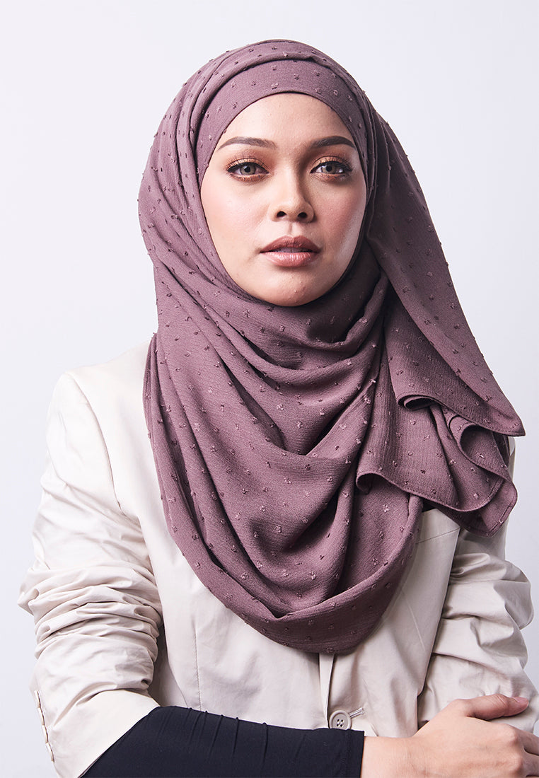 Hessa Wide Shawl (QH Gold Tag) - Ash Brown