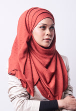 Load image into Gallery viewer, Hessa Wide Shawl (QH Gold Tag) - Brick Orange