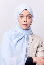 Load image into Gallery viewer, Jenna Wide Shawl (QH Gold Tag) - Soft Blue