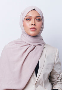 Jenna Wide Shawl (QH Gold Tag) - Nude Brown