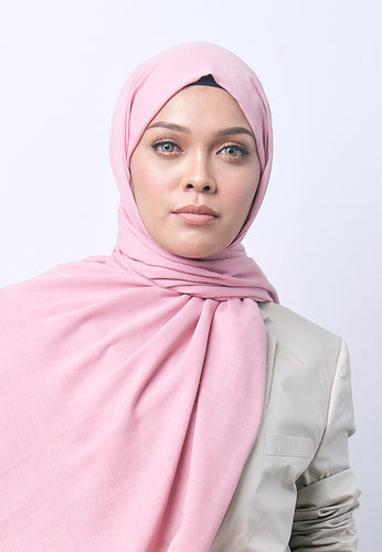 Jenna Wide Shawl (QH Gold Tag) - Dusty Pink