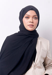 Jenna Wide Shawl (QH Gold Tag) - Black