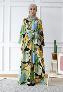 Dureen Printed Dress (Green)