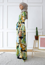 Load image into Gallery viewer, Dureen Printed Dress (Green)