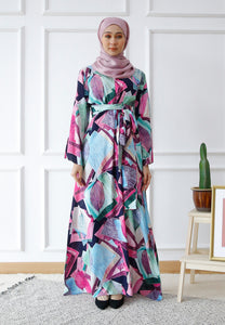 Dureen Printed Dress (Pink)