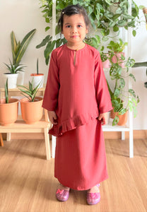 Jasmine Modern Kids Kurong (Brick Red)