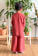 Load image into Gallery viewer, Jasmine Modern Kids Kurong (Brick Red)