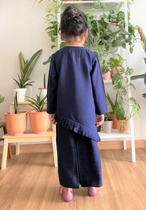 Jasmine Modern Kids Kurong (Oxford Blue)