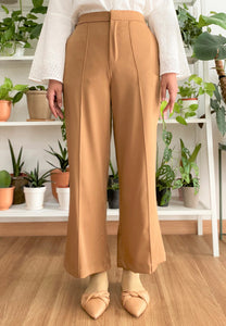 Salma Highwaisted Wide Pants (Brown)
