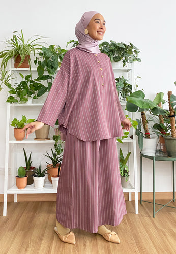 Hanii Baggy Set (Dusty Purple)