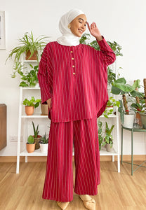 Hanii Baggy Set (Rose Red)