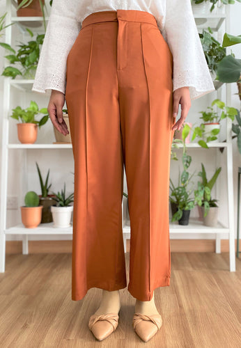Salma Highwaisted Wide Pants (Earth Orange)