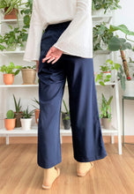 Load image into Gallery viewer, Salma Highwaisted Wide Pants (Navy Blue)