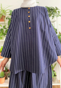 Hanii Baggy Set (Dark Blue)