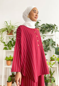 Hanii Baggy Top (Rose Red)