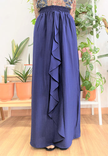 Dhiya Ruffles Skirt (Oxford Blue)