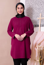 Load image into Gallery viewer, Mahdia Linen Top (Maroon)