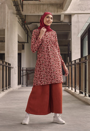 Ferra Printed Top (Cherry - Red)
