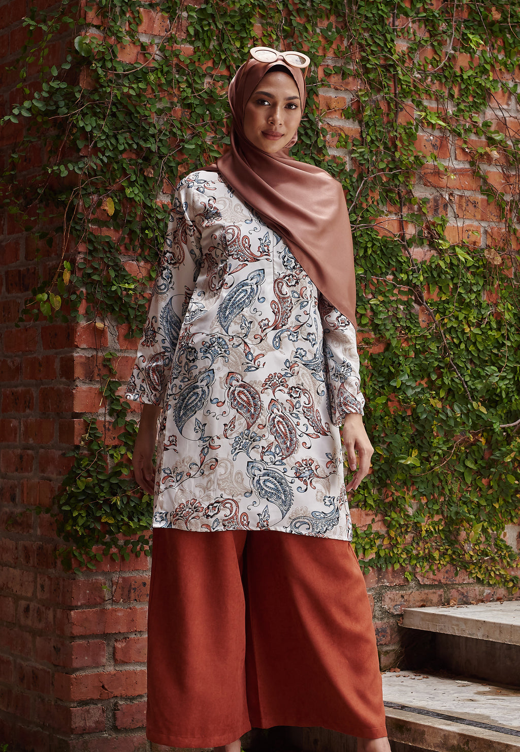 Asnaa Printed Top