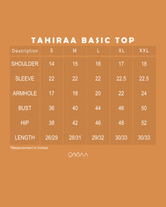 Tahiraa Basic Top (Royal Blue)