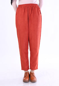 Corduroy Tapered Pants (Earth Orange)