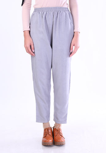 Corduroy Tapered Pants (Soft Grey)