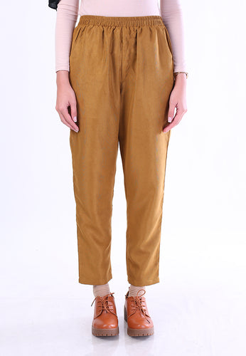 Corduroy Tapered Pants (Mustard)