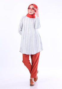 Eesha Doll Top (Stripe - White)