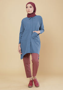 Maira Pocket Shirt (Ash Blue)