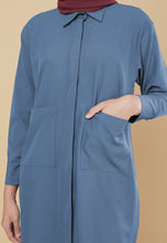 Load image into Gallery viewer, Maira Pocket Shirt (Ash Blue)