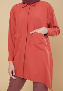 Maira Pocket Shirt (Earth Orange)