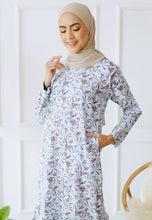 Load image into Gallery viewer, Fahiima Printed Top (Soft Blue)