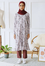 Load image into Gallery viewer, Fahiima Printed Top (Maroon)