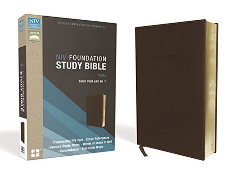 NIV, Foundation Study Bible, Leathersoft, Brown