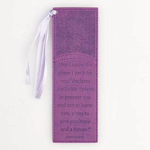 Purple Jeremiah 29:11 Faux Leather Pagemarker / Bookmark
