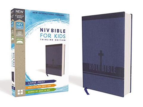 NIV, Bible for Kids, Large Print, Leathersoft, Blue
