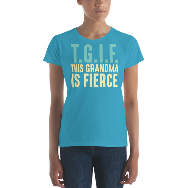 The Mom Collection-Fierce Grandma-Women's Short Sleeve T-Shirt