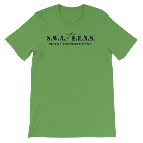 S.W.A.T.E.E.N.S. Short-Sleeve Unisex T-Shirt with Inspirational Quote on the Back