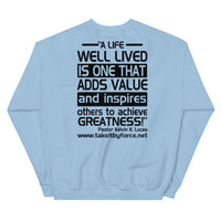 S.W.A.T.E.E.N.S. Sweatshirt with Inspirational Quote on the Back