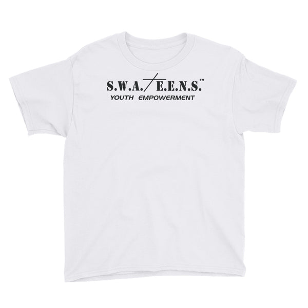 S.W.A.T.E.E.N.S. Youth Short Sleeve Inspirational T-Shirt with Quote on the Back