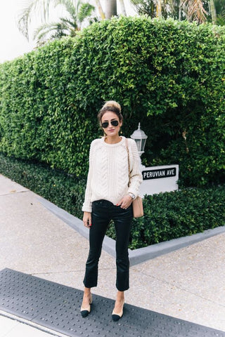 Sweater total white outfit