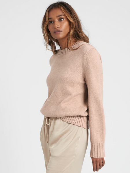 Cotton-Blend Bell-Sleeve Sweater