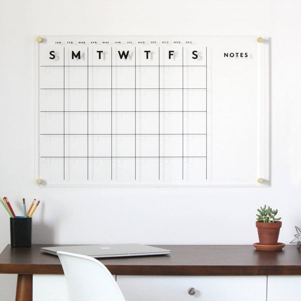 Acrylic Calendar with side notes