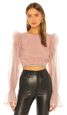 NBD Benae Blouse in Pink