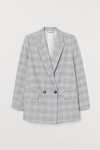 Double-breasted Jacket in Woven Fabric