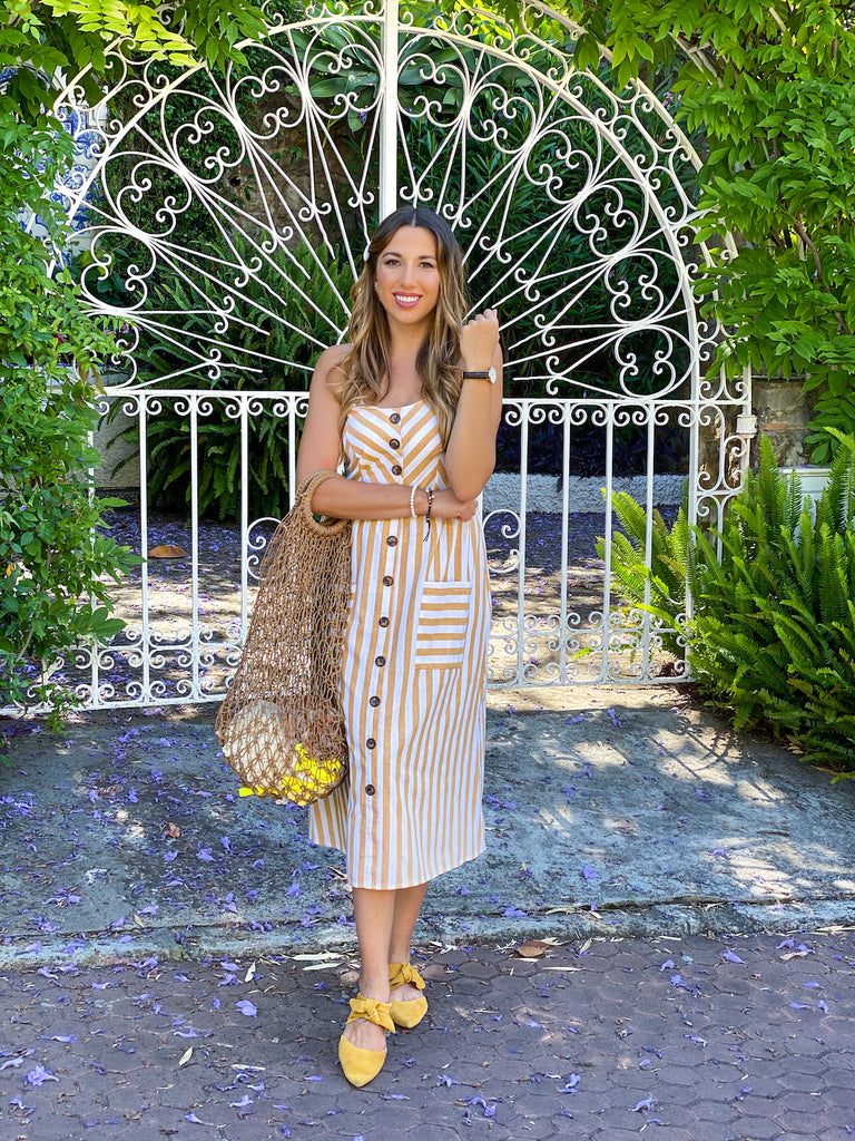 LuxeFashionBlog Brunereau Laura Yellow Dress